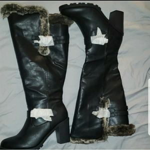 LB Faux Fur lined Over the Knee Boots